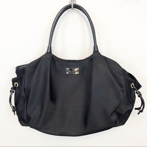 Kate Spade black diaper bag with changing pad